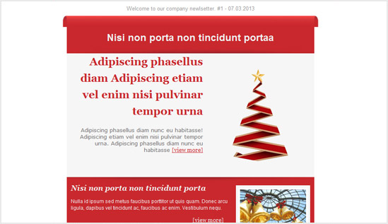 Holiday Email Newsletter Templates  Email Newsletter Templates