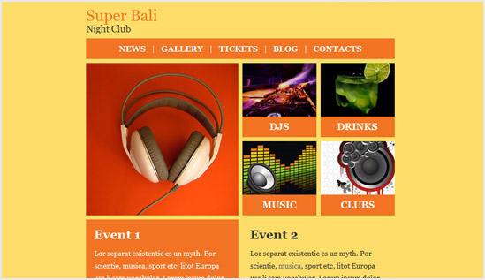 Night Club Email Newsletter Templates Email Newsletter Templates