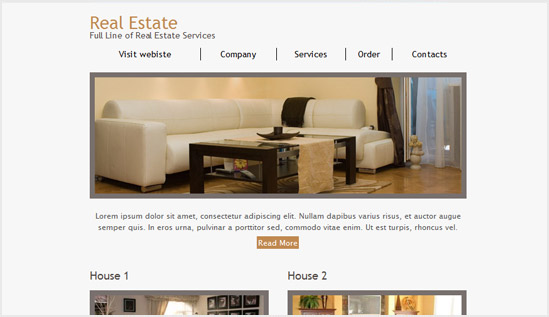 Real Estate Email Newsletter Templates