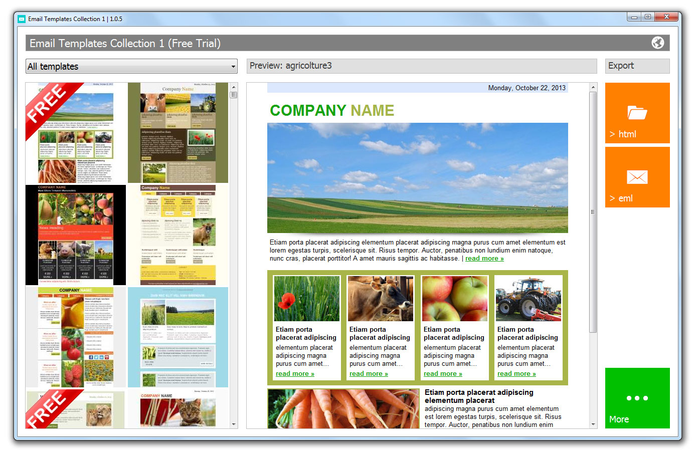 Email templates software screenshots email newsletter templates main page accmission Gallery